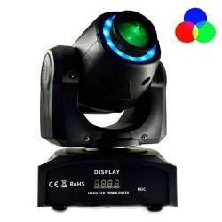 Cabeza Móvil Spot LED 30W BOSTON Blanco + 7 Colores - 7 Gobos Fijos - DMX