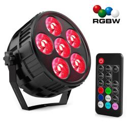 Foco Mini PAR LED 36W MONTANA RGBW 4 en 1 + Mando