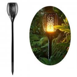 Antorcha LED Solar con Luz efecto Llama con Pica - Imagen 1