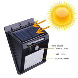 Aplique Solar con Sensor de presencia PIR - Imagen 2