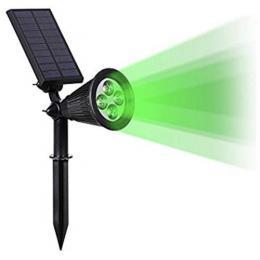 Pica LED Solar Luz Verde giratorio 180º - Imagen 2