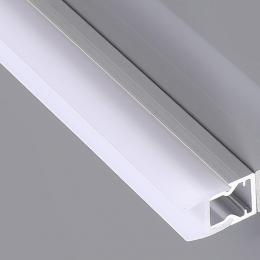Perfil Aluminio para Tiras LED - GLASS- para Cristales 2m.