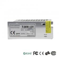 Fuente Alimentación 12V 36W 1A - Aluminio IP20