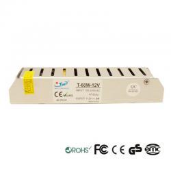 Fuente Alimentación 12V 60W - Aluminio IP20