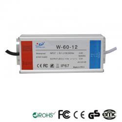 Fuente Alimentación 12V 60W 4A - Aluminio IP67
