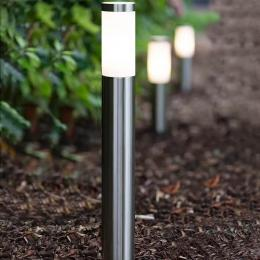 Baliza para LED E27 Circular Acero Inox 60cm Exterior - Imagen 2