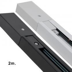 Carril Monofásico 2 metros REFORZADO para Focos LED - Imagen 1