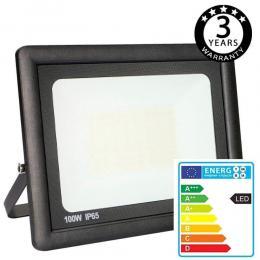 Foco Proyector Exterior Negro LED 100W ACTION IP65 - Imagen 2