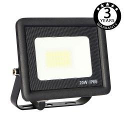 Foco Proyector Exterior Negro LED 20W ACTION IP65 - Imagen 1