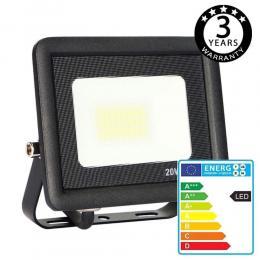 Foco Proyector Exterior Negro LED 20W ACTION IP65 - Imagen 2