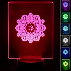 Lámpara de Mesa 3D RGB - LOVE ANIMALS - - Imagen 1
