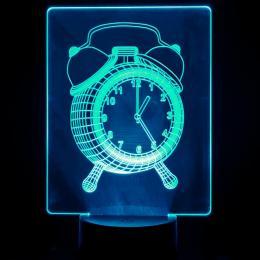Lámpara de Mesa 3D RGB - RELOJ - - Imagen 2