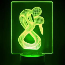 Lámpara de Mesa 3D RGB - KISS - - Imagen 2