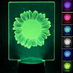 Lámpara de Mesa 3D RGB - SUNFLOWER - - Imagen 1