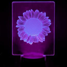 Lámpara de Mesa 3D RGB - SUNFLOWER - - Imagen 2