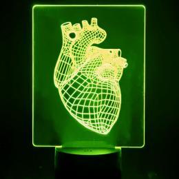 Lámpara de Mesa 3D RGB - HEART - - Imagen 2