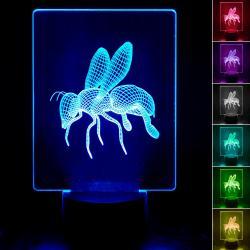 Lámpara de Mesa 3D RGB - ABEJA - - Imagen 1