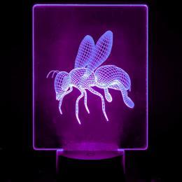 Lámpara de Mesa 3D RGB - ABEJA - - Imagen 2