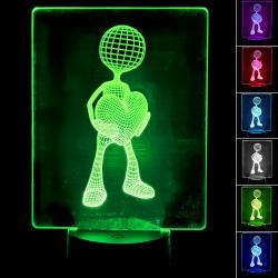 Lámpara de Mesa 3D RGB - LOVE - - Imagen 1