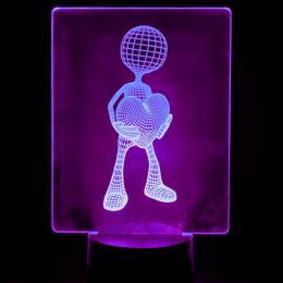 Lámpara de Mesa 3D RGB - LOVE - - Imagen 2