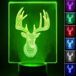 Lámpara de Mesa 3D RGB - CIERVO -