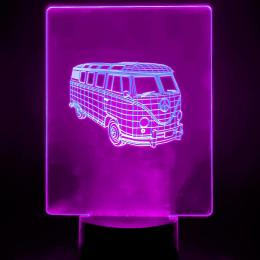 Lámpara de Mesa 3D RGB - FURGONETA - - Imagen 2