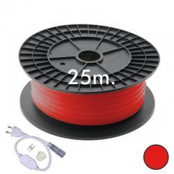 Neón LED CIRCULAR Flexible 220V Bobina 25m 16mm - 9,6W/m - Rojo - Imagen 1