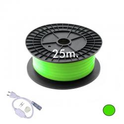 Neón LED CIRCULAR Flexible 220V Bobina 25m 16mm - 9,6W/m - Verde