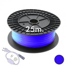 Neón LED CIRCULAR Flexible 220V Bobina 25m 16mm - 9,6W/m - Azul