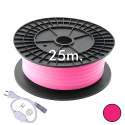 Neón LED CIRCULAR Flexible 220V Bobina 25m 16mm - 9,6W/m - Rosa