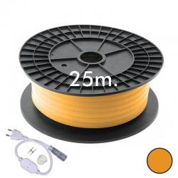 Neón LED CIRCULAR Flexible 220V Bobina 25m 16mm - 9,6W/m - Naranja