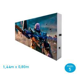 Rótulo LED Modular adaptable Pixel 5 RGB Full Color -1 Modulo - Imagen 1