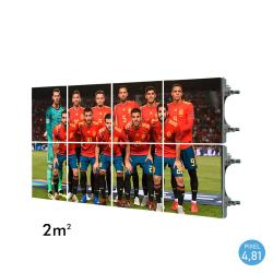 Rótulo electrónico LED Exterior Serie RENTAL Pixel 4.81 RGB Full Color 2m2 (8 Modulos Apilables + Control) - Imagen 1