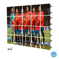 Rótulo electrónico LED Exterior Serie RENTAL Pixel 4.81 RGB Full Color 5m2 (20 Modulos Apilables + Control) - Imagen 1