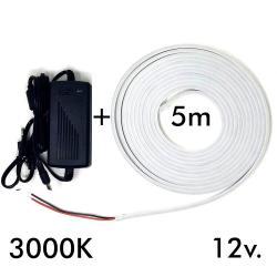 Pack Tira Neón 3000K LED 6mm 12V + Fuente de Alimentación - Imagen 1