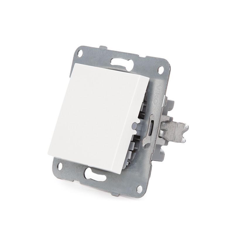 Conmutador Panasonic Karre 10A 250V/Bastidor Metálico con Garras/Tecla Blanca - Imagen 4