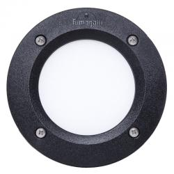 Foco Empotrable Exterior de pared Fumagalli LETI 100 Negro GX53 LED 3W