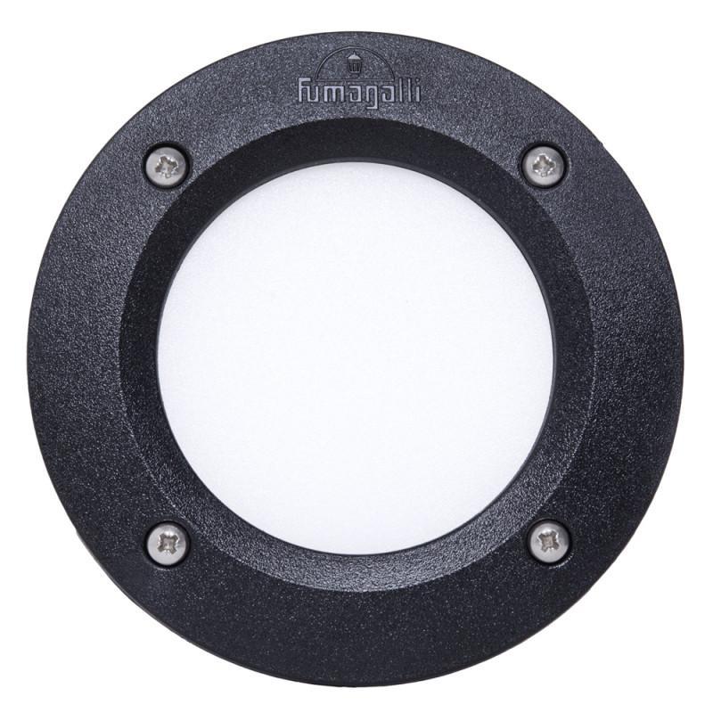 Lámpara de Pared Empotrada para Exterior Fumagalli Leti 100 Negro GX53 LED 3W Blanco Cálido Elizabeth - Imagen 1