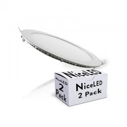 Pack Placas Led Circular ECOLINE 18W 1409Lm