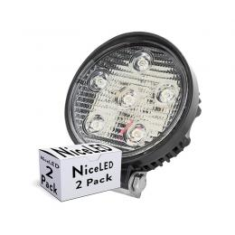 Pack 2 Foco LED 18W 9-33VDC IP68 Automóviles/Náutica Blanco Frío - Imagen 2