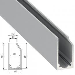 Perfíl Aluminio Tipo I6 2,02M - Imagen 2