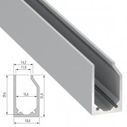 Perfíl Aluminio Tipo I10 2,02M - Imagen 2