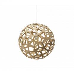 """Kit Lámpara Colgante """"Coral"""" Ø400mm E14 Bambú Laminado [DTR-CORAL-400-N] - Imagen 1"""