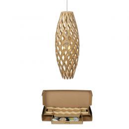 """Kit Lámpara Colgante """"Hinaki"""" H500mm E14 Bambú Laminado [DTR-HINAKI-500-N] - Imagen 2"""