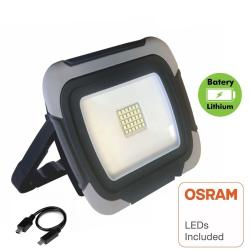 Foco Proyector Portatil Led 10W OSRAM Chip Recargable - Power Bank - Imagen 1
