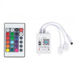 Controlador WIFI Doble Tira LED RGB Comptable Alex/Google Home con Mando [TB-WFXB-IR24] - Imagen 1
