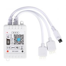 Controlador WIFI Doble Tira LED RGB Comptable Alex/Google Home con Mando [TB-WFXB-IR24] - Imagen 2