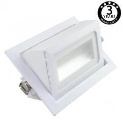Foco proyector LED 36W orientable rectangular - 120º - Imagen 1