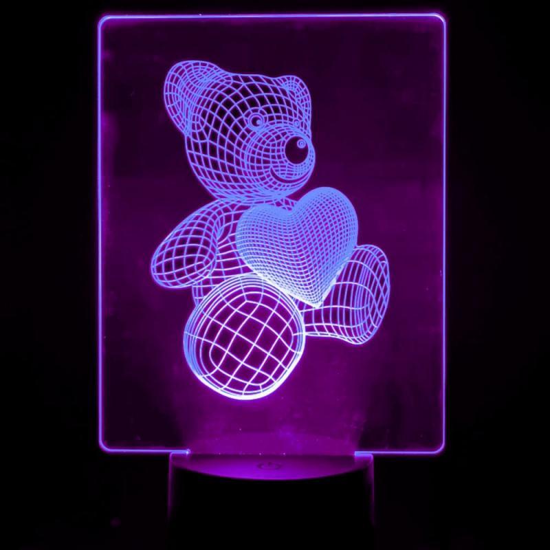 Lámpara de Mesa 3D RGB - MODELOS INFANTILES PARA AMAZON - - Imagen 1