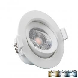 Empotrable LED 7W Circular Blanco - CCT